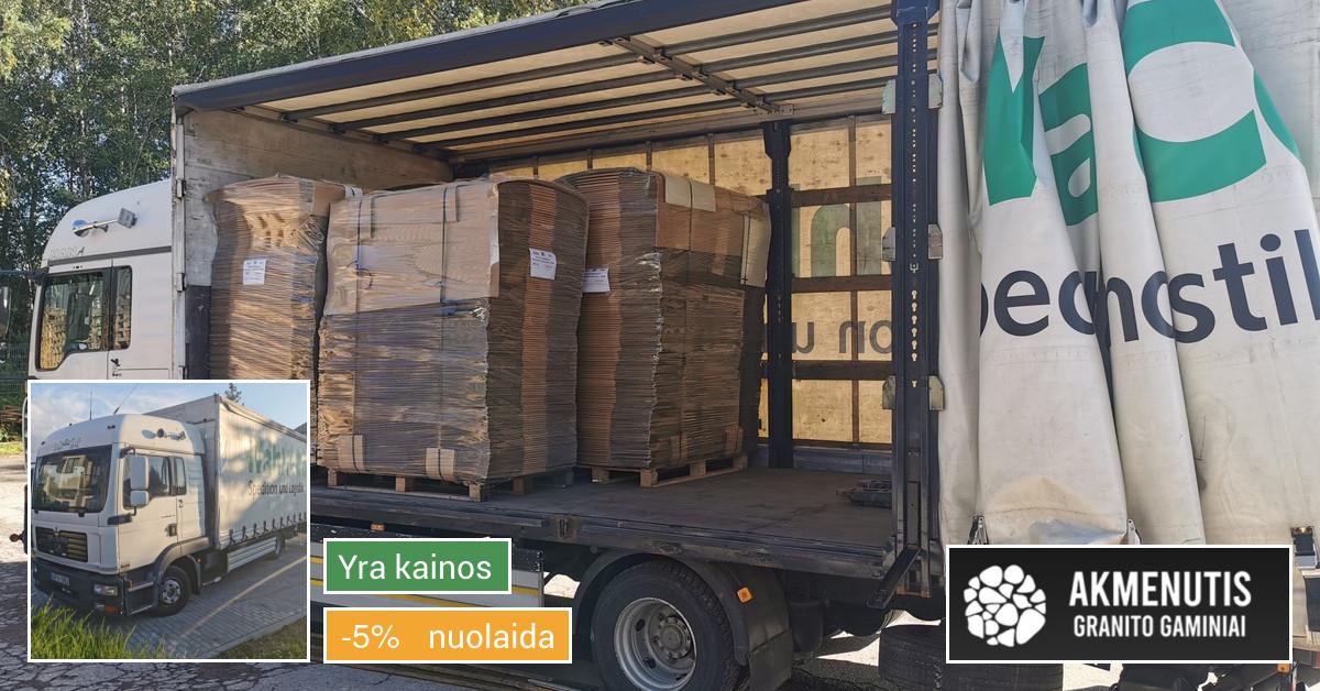 Krovinių gabenimas, pakrovimas Iš/į autokrautuvu.