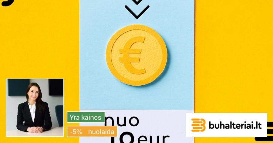Buhalterinė apskaita nuo 19 € / mėn.