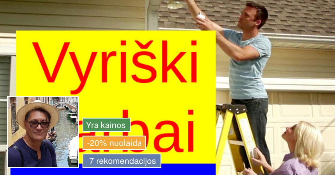 Vyriški darbai namuose