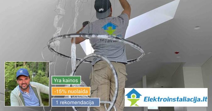 Elektros instaliacijos darbai. Specialistų pagalba.