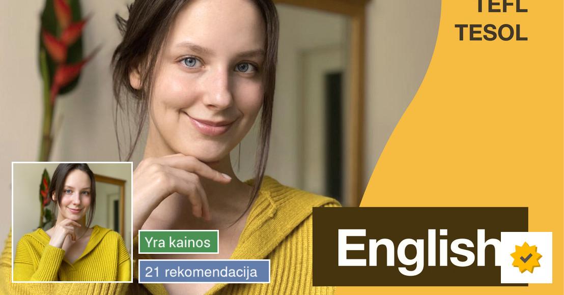 Anglų kalbos pamokos Vilniuje online/skype/zoom