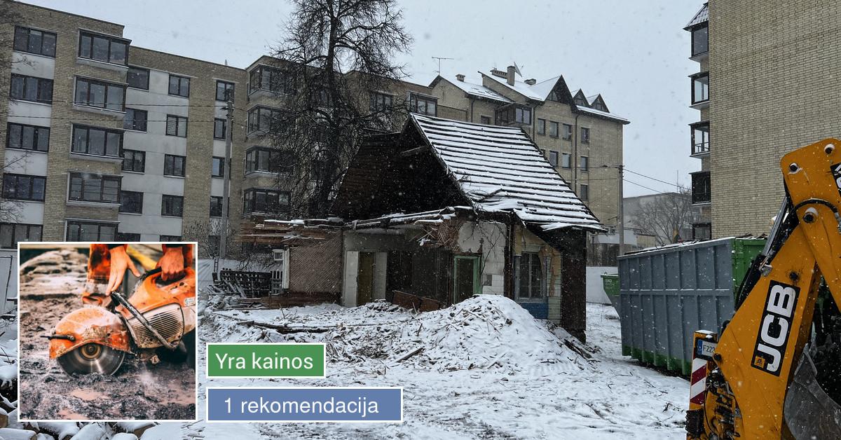 Betoninių, metalinių, medinių konstrukcijų Griovimas