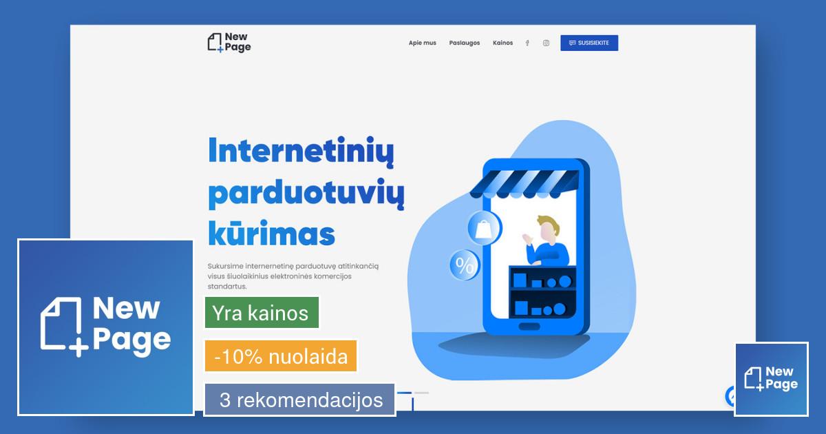 Internetinių svetainių ir parduotuvių kūrimas - New Page