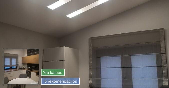 Vidaus apdailos darbai, langų, durų montavimas