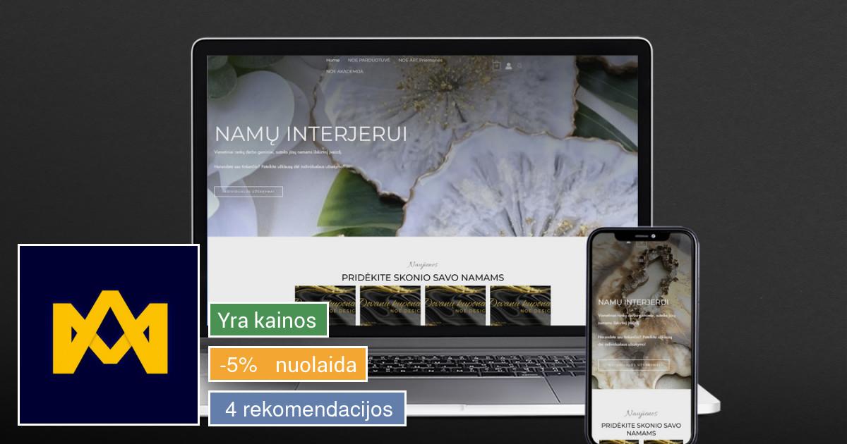 Svetainių, elektroninių parduotuvių kūrimas