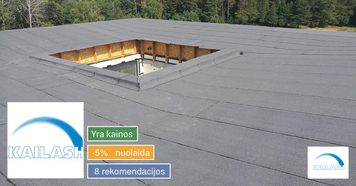Profesionalus plokščių stogų dengimas