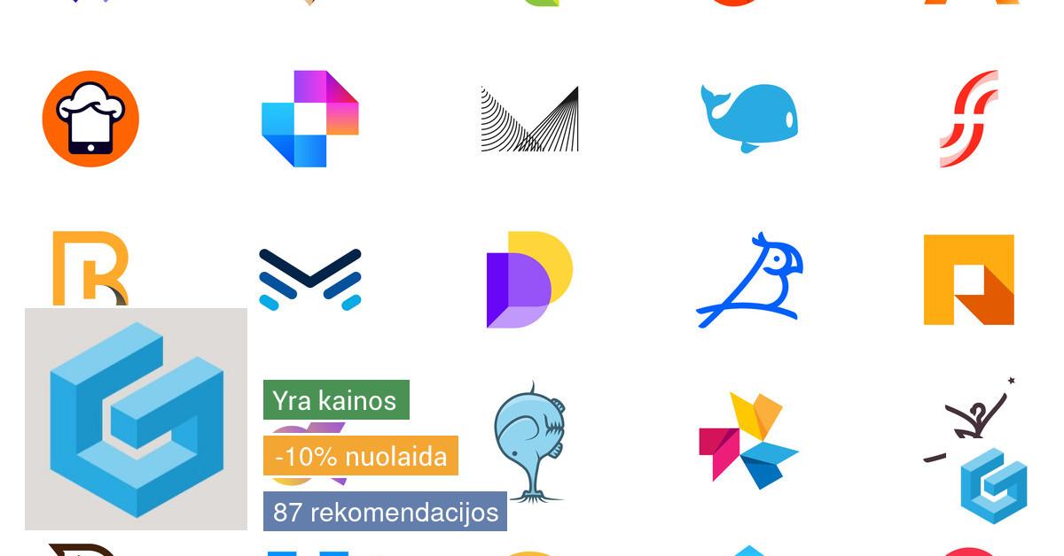 Logotipų kūrimas, grafikos dizaineris 14m. patirtis, kokybė.