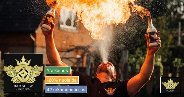 Barmenų šou,mobilus kokteilių baras,šampano piramidė!