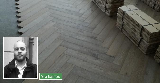 Medinių grindų įrengimas