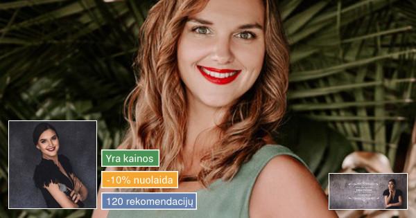 Renginių vedėja ir koordinatorė Edita