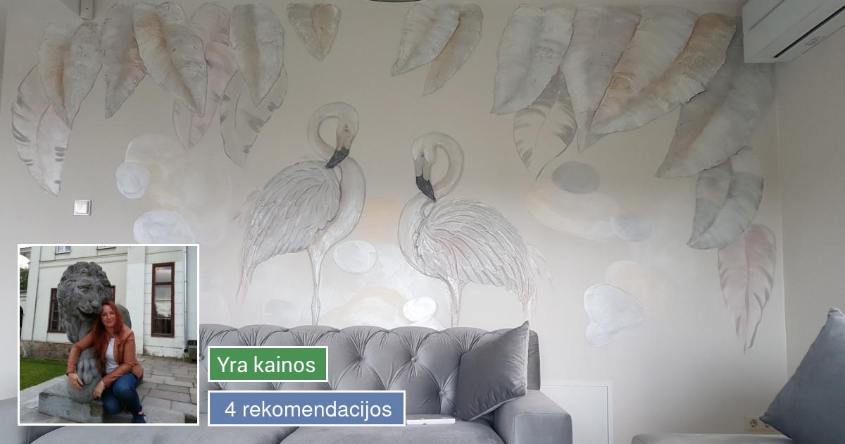Interjero dekoravimas, bareljefai, freskos, sienų skulptūros