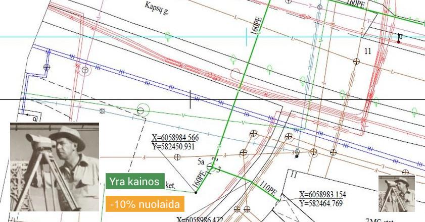 Geodezininkas - topografiniai planai, geodezinės nuotraukos.