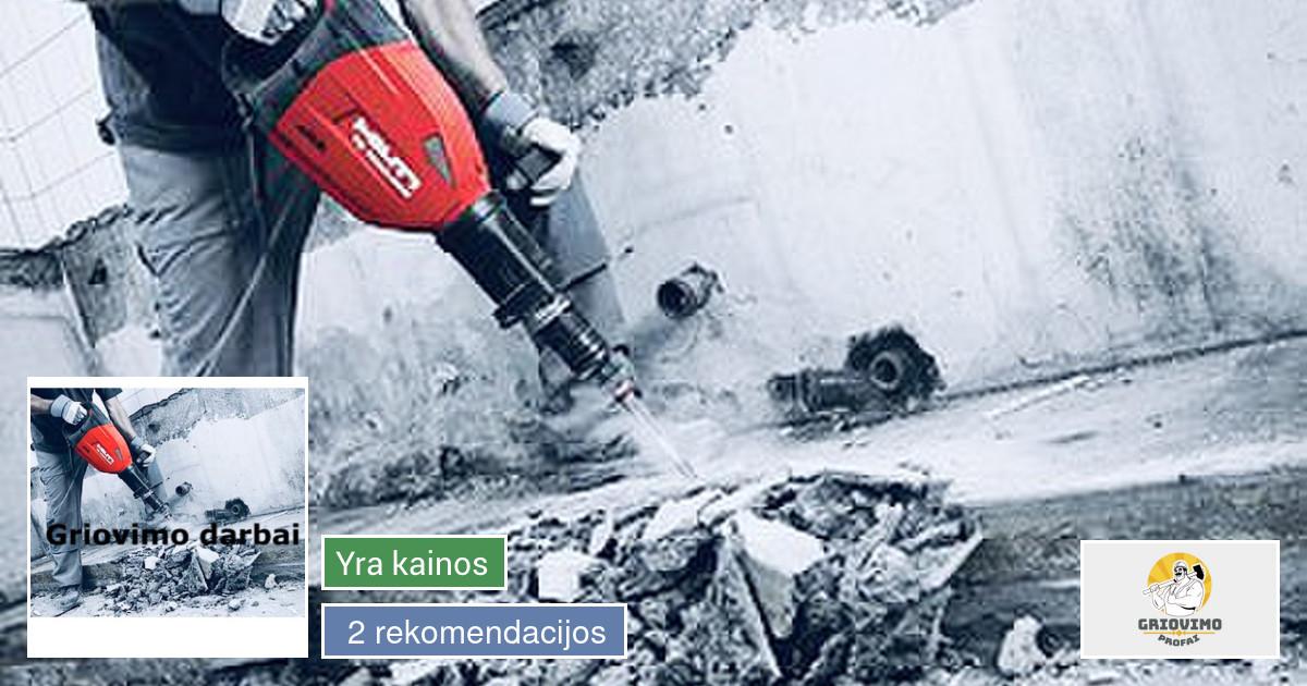 Griovimo demontavimo darbai Vilniuje