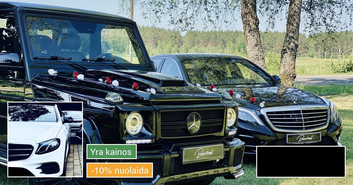 Prabangių automobilių nuoma vestuvėms ir kt. šventėms