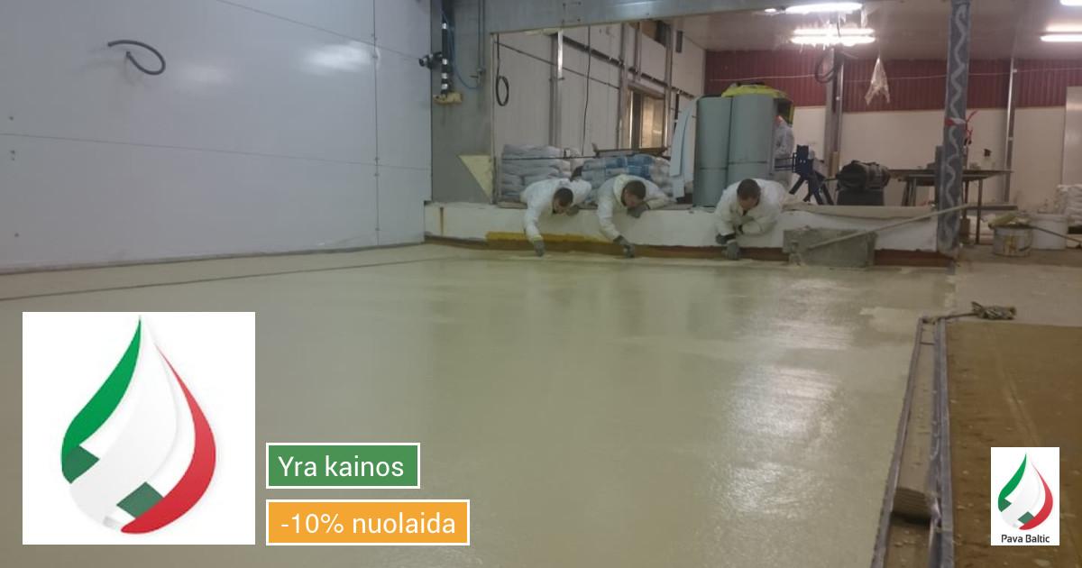 Pramoninės ir dekoratyvinės liejamos grindys