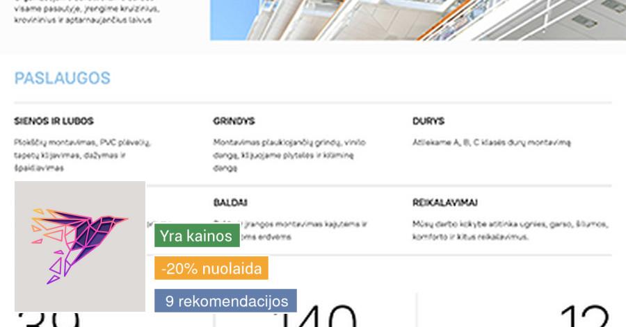 Interneto svetainių bei el. parduotuvių kūrimas. SEO auditas