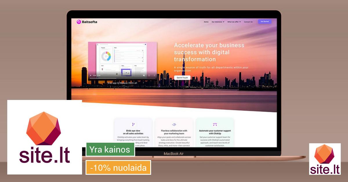 Interneto svetainių, parduotuvių, skelbomo lentų kūrimas