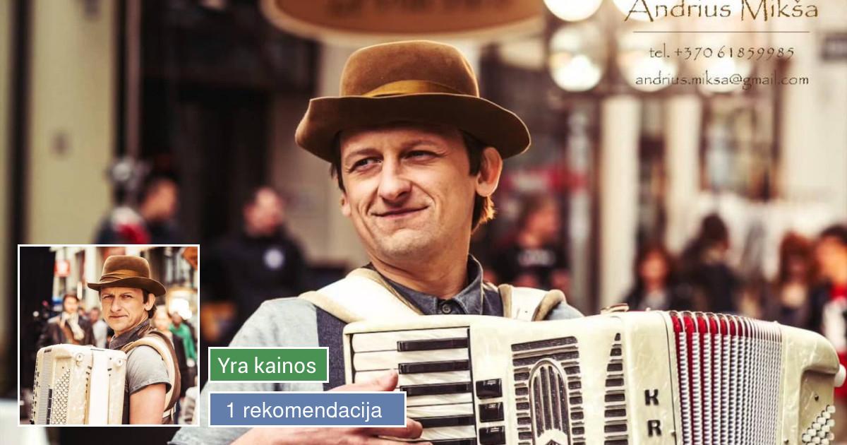 Romantiškas prancūziškas akordeonistas