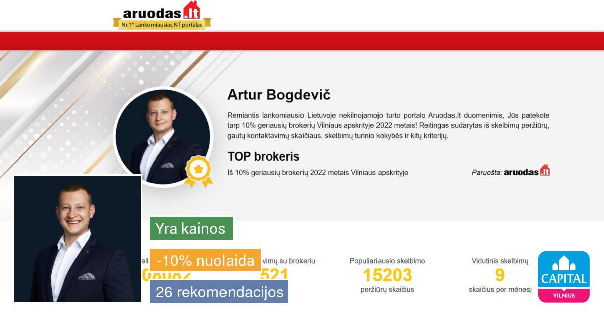 Sertifikuotas nekilnojamojo turto brokeris Vilniuje