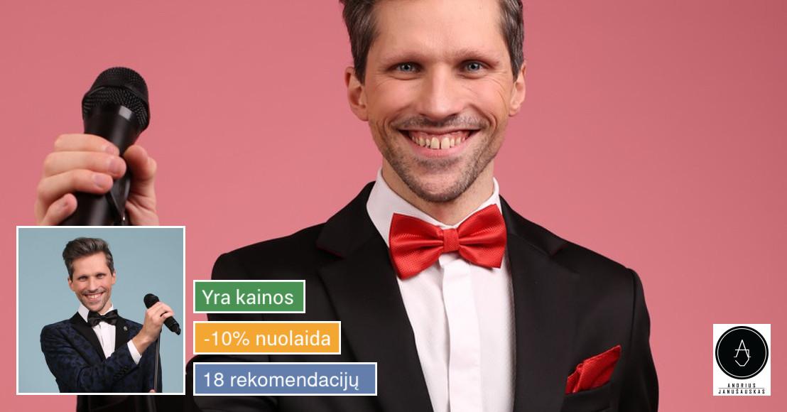 Renginių vedėjas Andrius Janušauskas