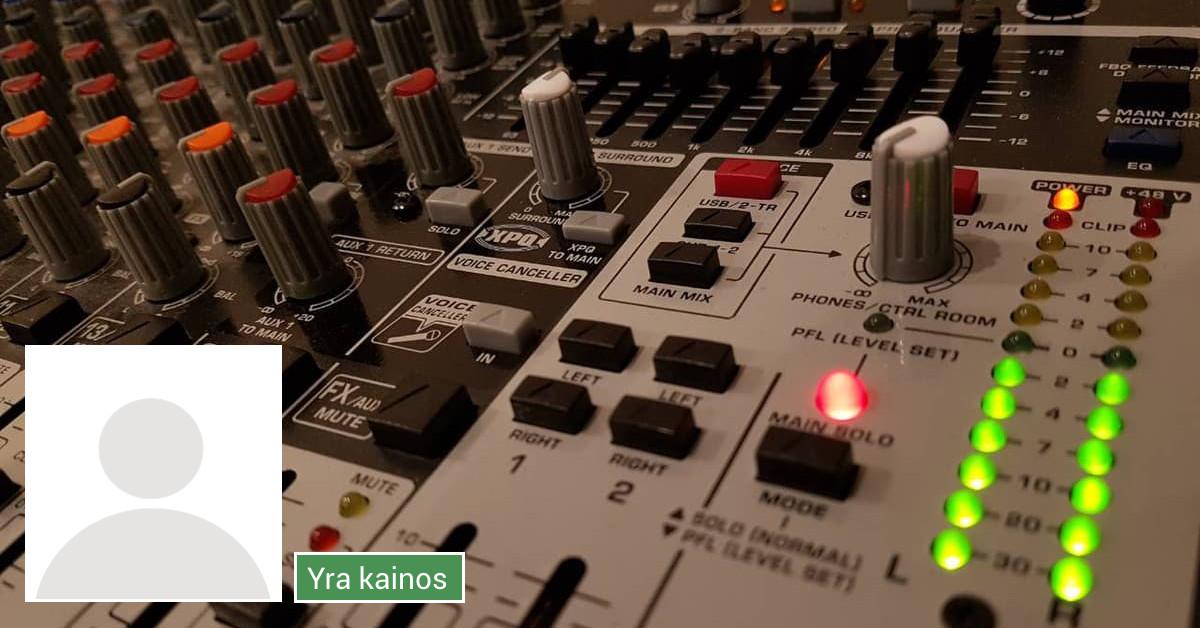 Renginių įgarsinimas (audio nuoma, operatorius)
