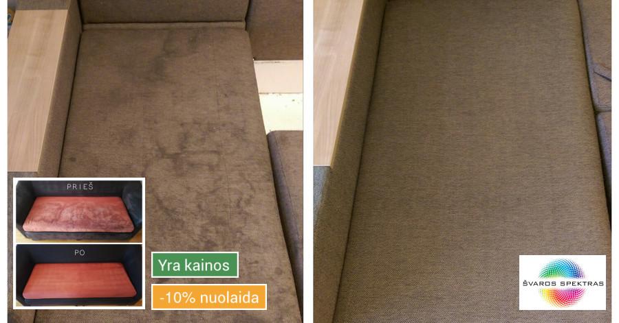 Kokybiškas minkštų baldų valymas, kilimų valymas!