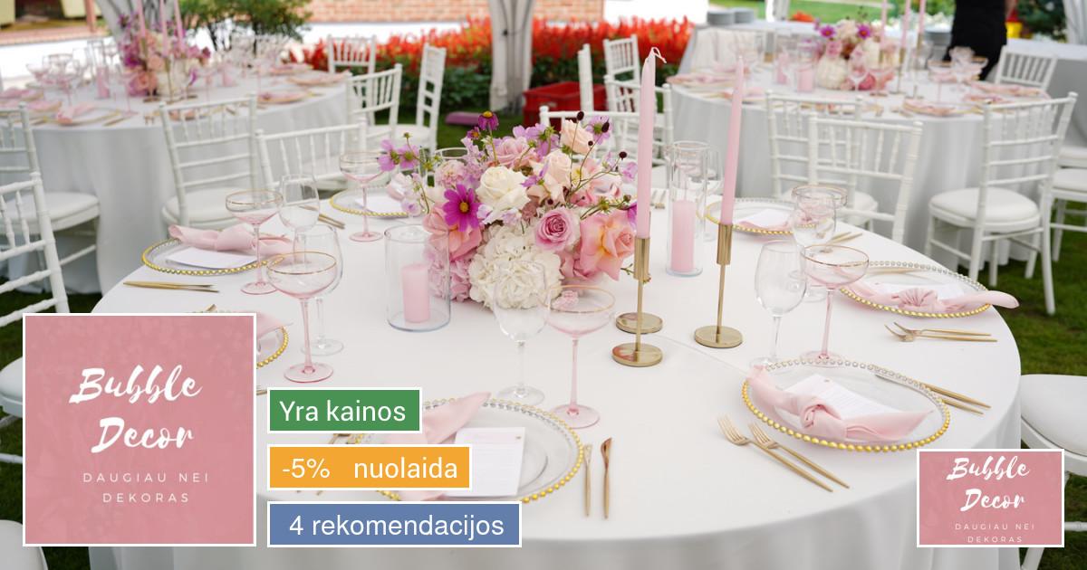 Floristika ir dekoravimas - Bubble Decor
