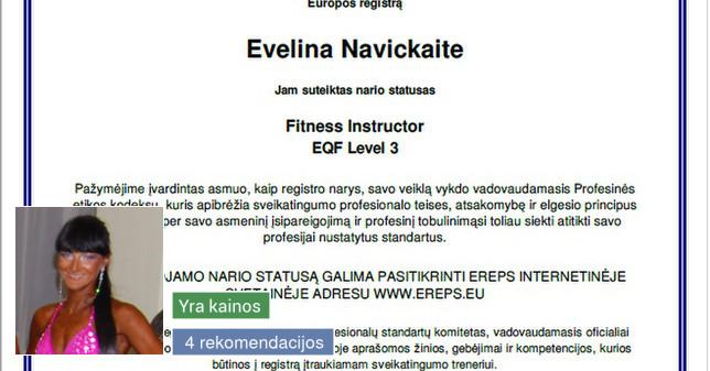 Moterų sveikatingumo instruktorė Kaune
