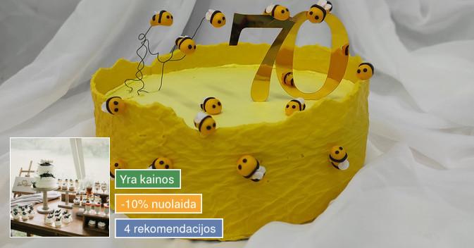 Tortai ir desertai Jūsų šventiniam stalu