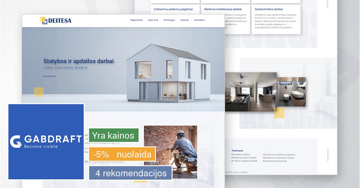 Internetinių svetainių kūrimas - Gabdraft