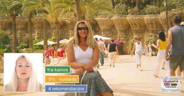 Anglų-lietuvių-anglų kalbų vertėja