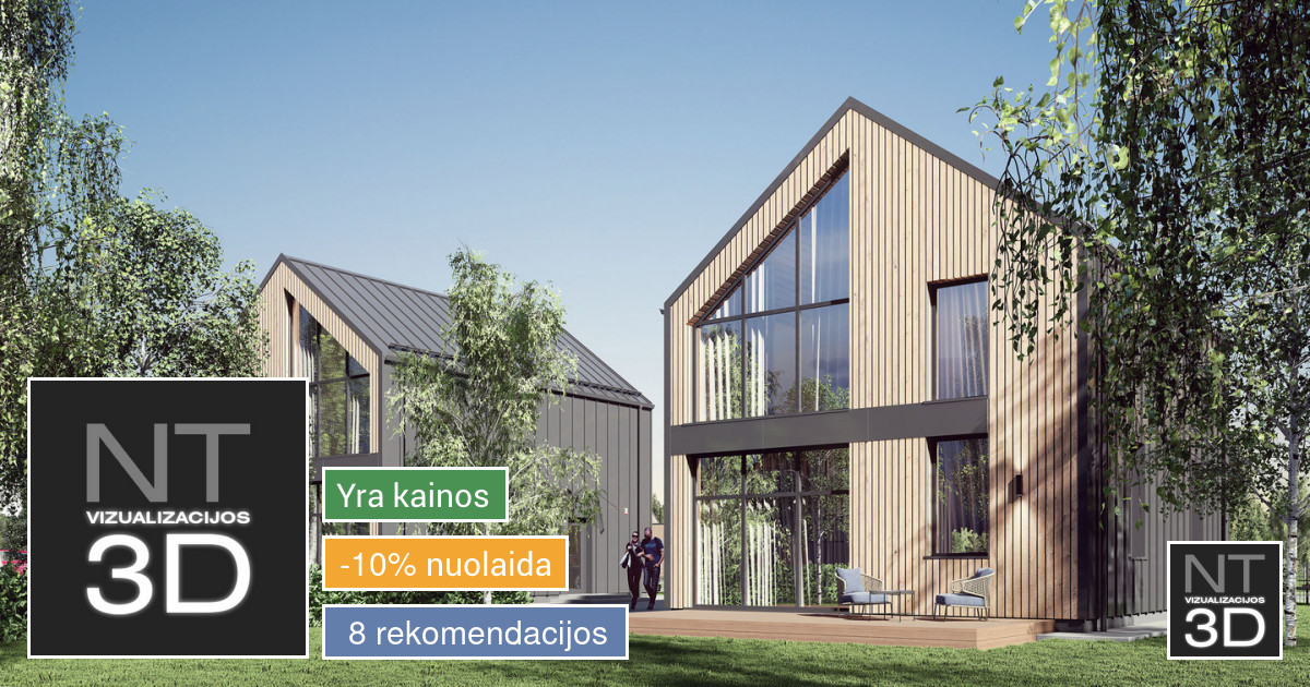Architektūrinės (pastatų) vizualizacijos. REVIT modeliavimas