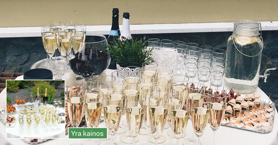 Laimės burbulai - staliukas Jūsų šventei
