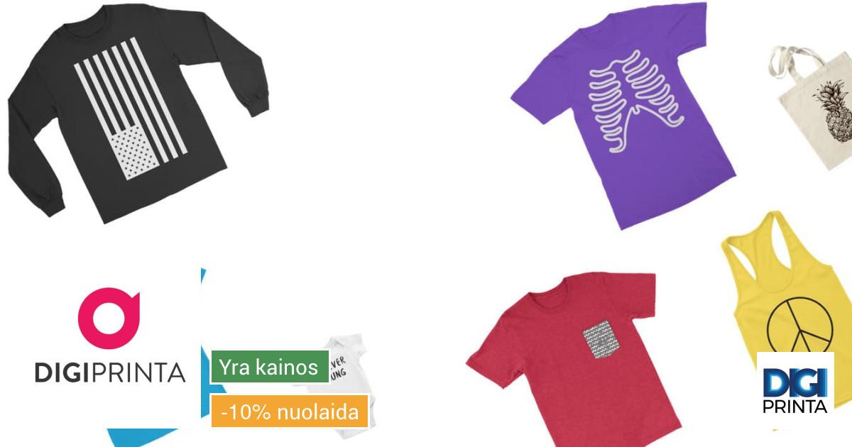 Spauda ant Tekstilės, Drabužių, Marškinėlių, Džemperių, Kiše