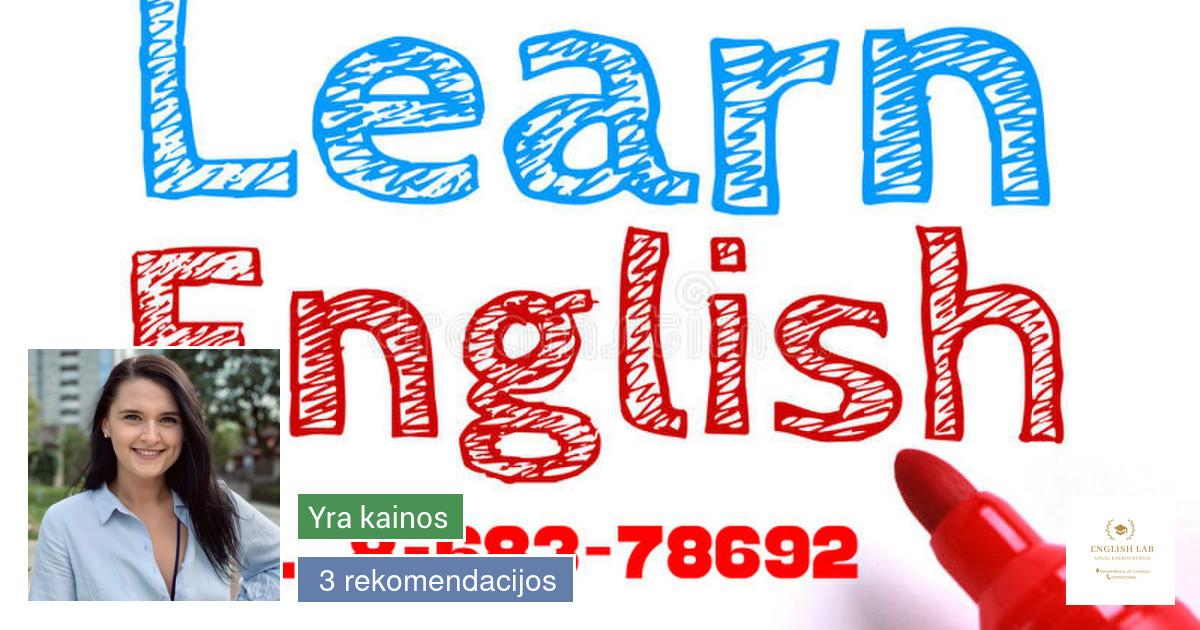 Anglų kalbos mokytoja Panevėžyje pačiame miesto centre