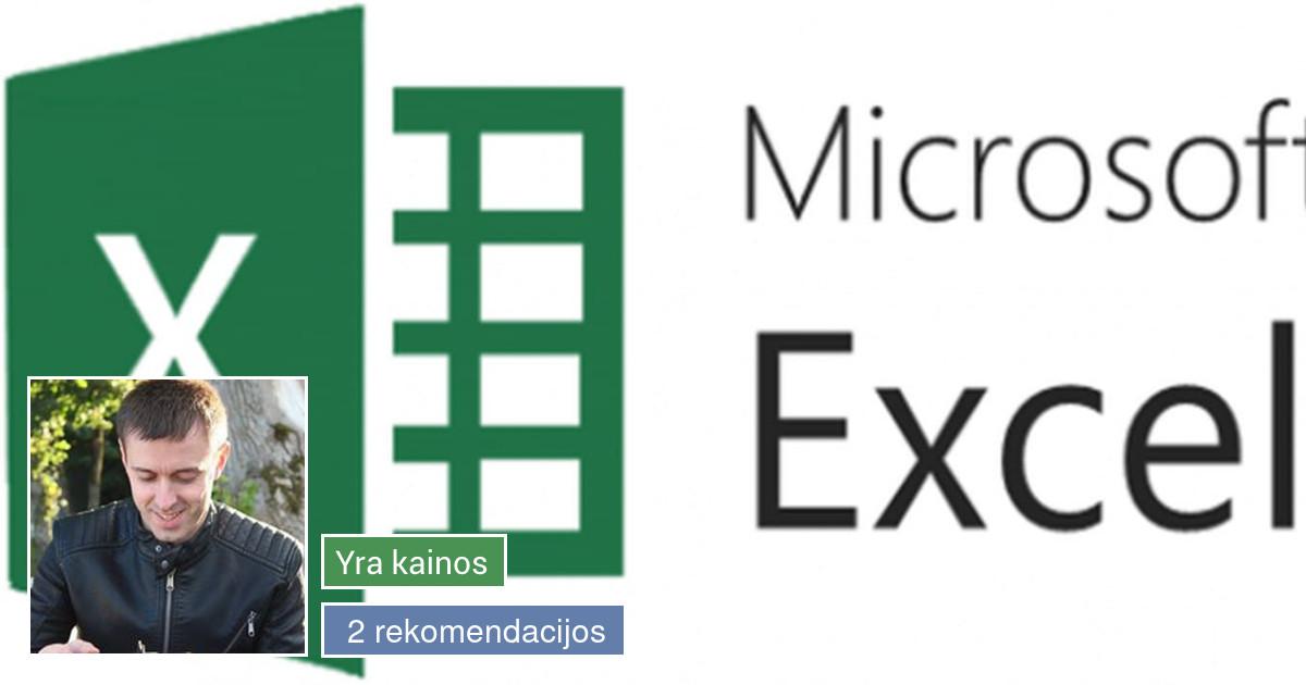 Analitikos paslaugos (MS Excel)