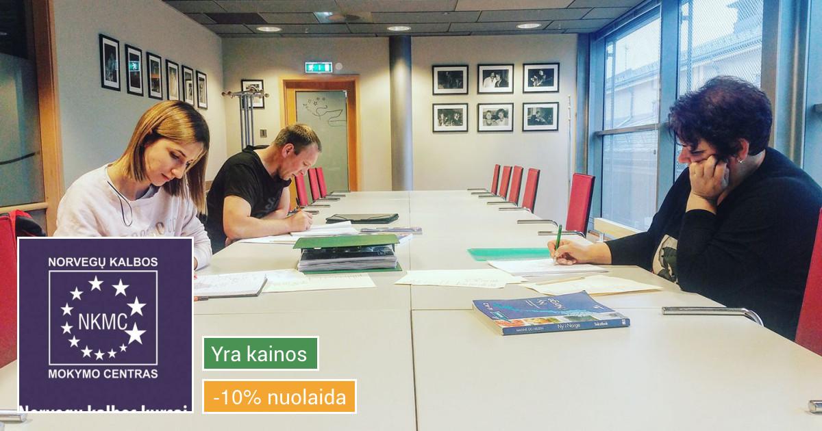 Norvegų kalbos kursai grupėse  ir internetu, vertimai raštu