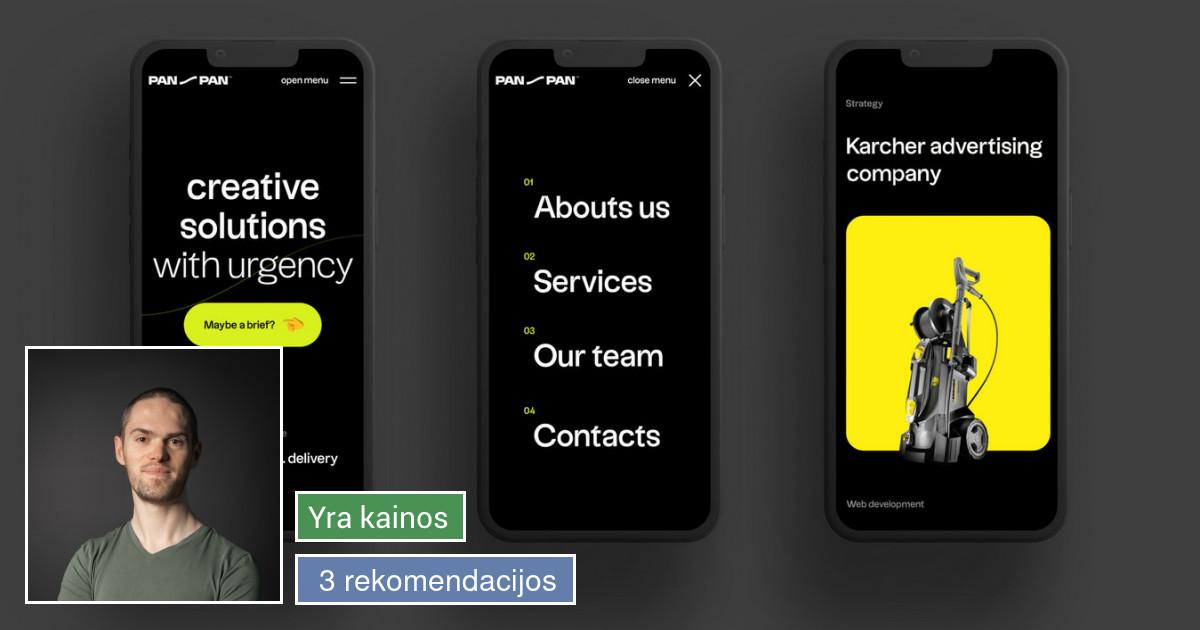 Web dizainas, UX/UI dizainas, logotipų kūrimas