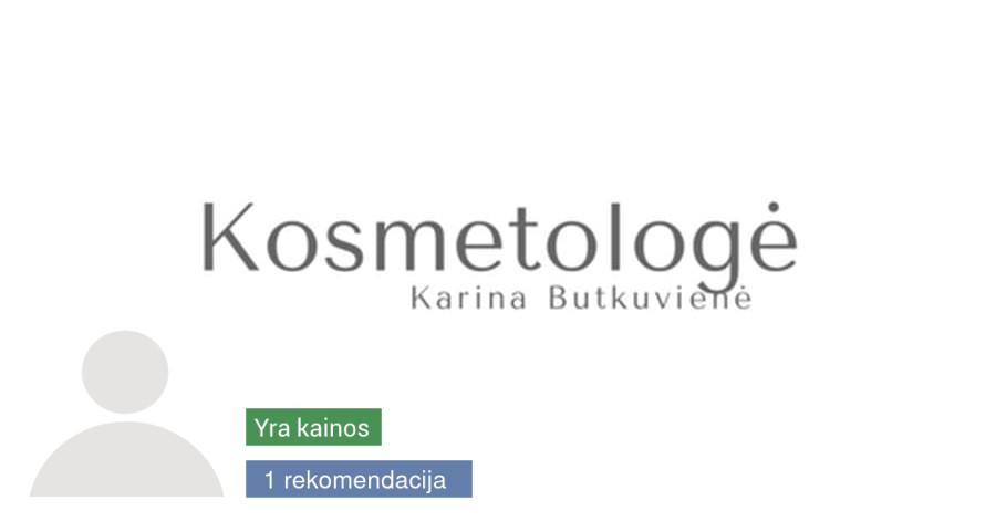 Kosmetologė Karina