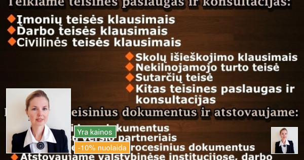Advokatės Kristinos Čivilytės kontora Attorney at Law
