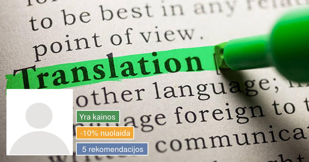 Vertimas raštu bei žodžiu į/iš lenkų kalbos