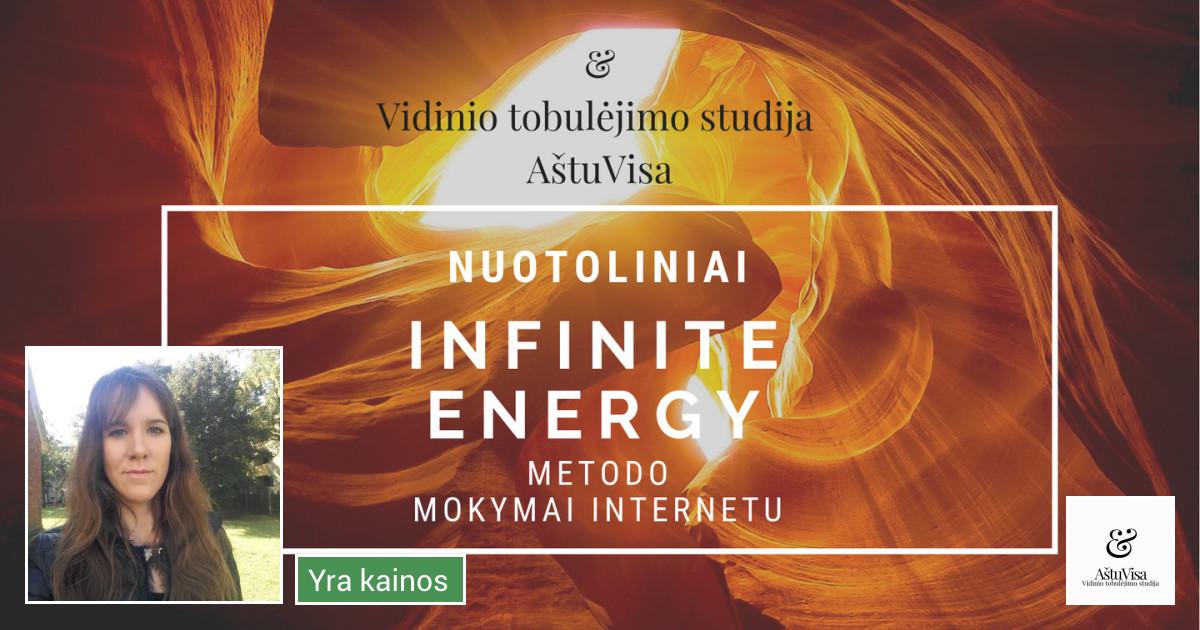 Nuotoliniai ,,Infinite energy'' metodo mokymai internetu.