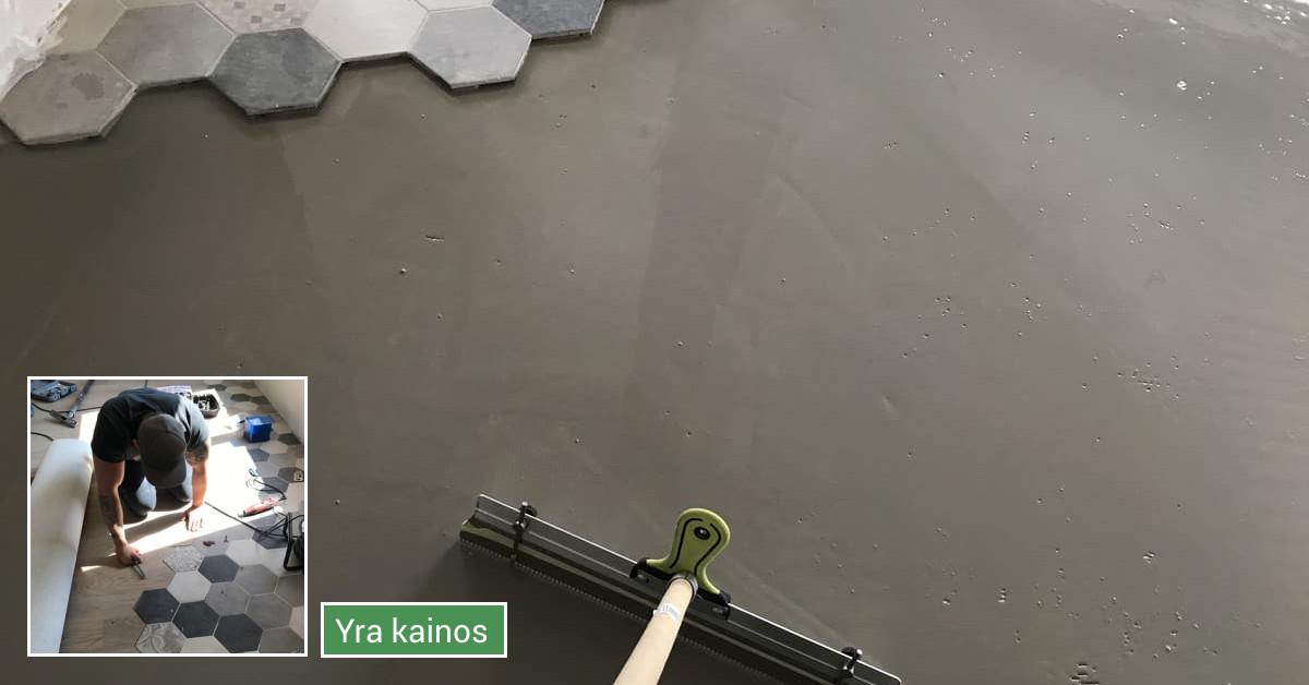 Grindų dėjimas, sienų dekoravimas