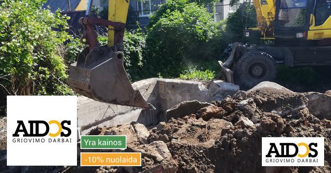 Visi griovimo ir rekonstrukcijos darbai. Kaunas