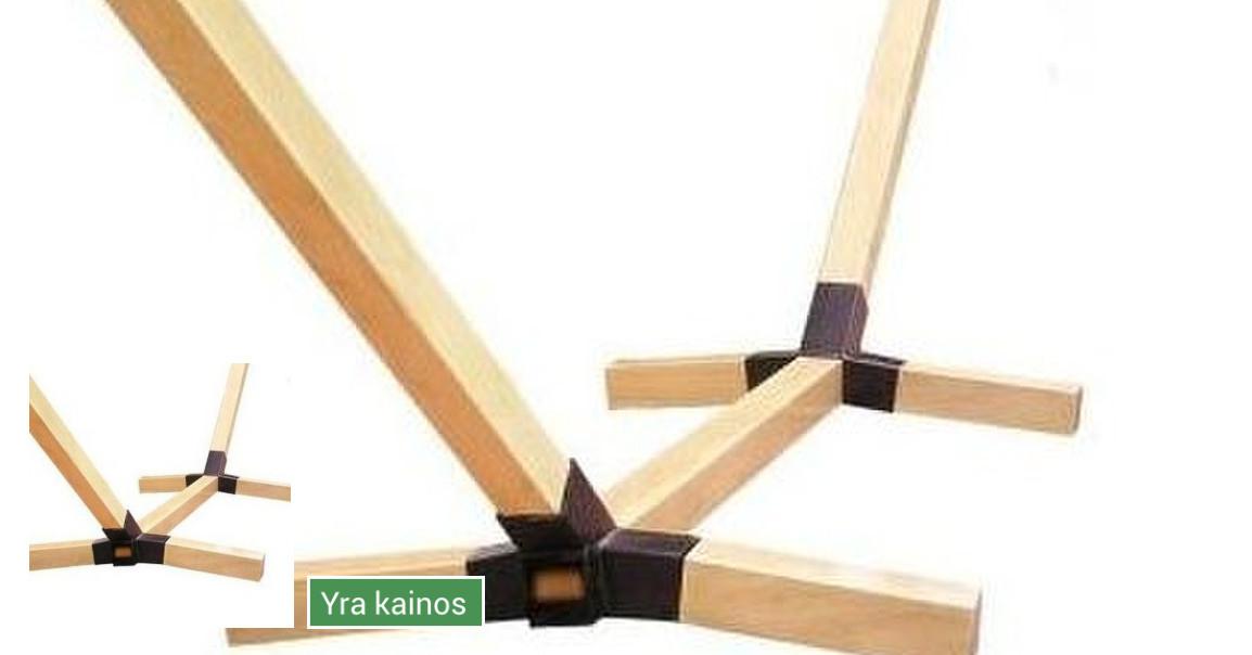 Metaliniai-mediniai hamakų stovai/laikikliai, ir kiti metalo