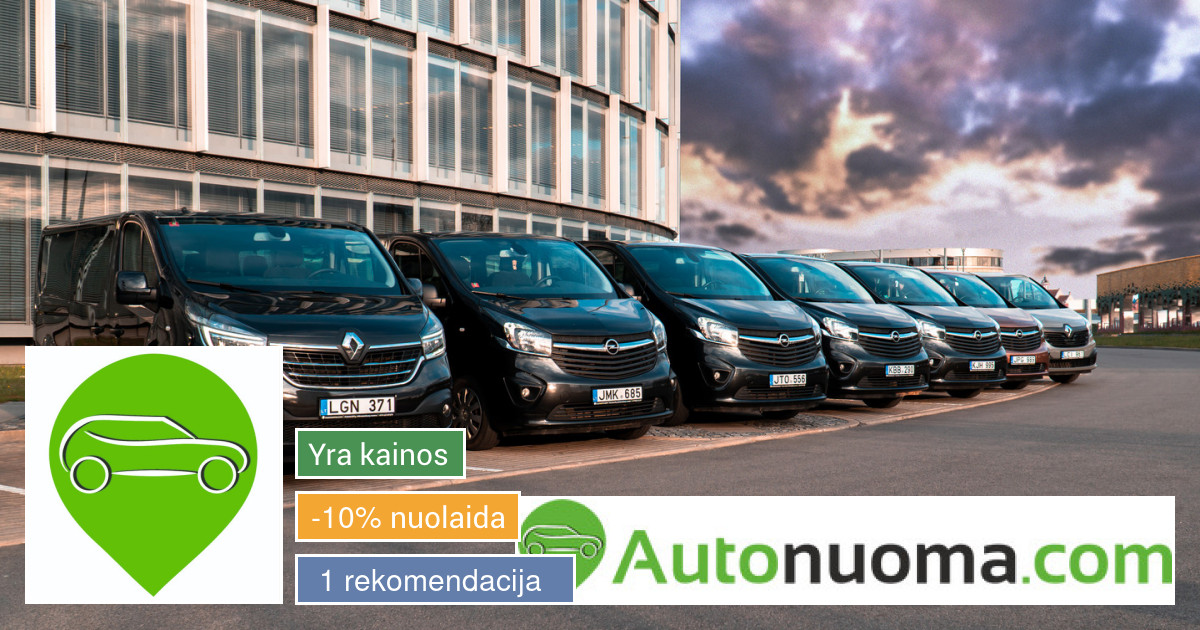 2017-2019 Opel Vivaro, Renault Trafic nuoma