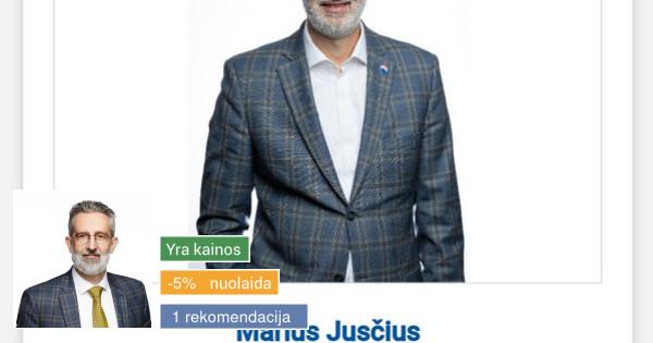NT brokeris Marius Jusčius