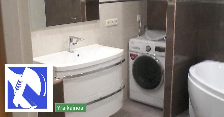 Santechnika. Šildymas. Pilnas vonios kambario įrengimas.