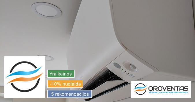 Vėdinimo ir kondicionavimo sistemų montavimas