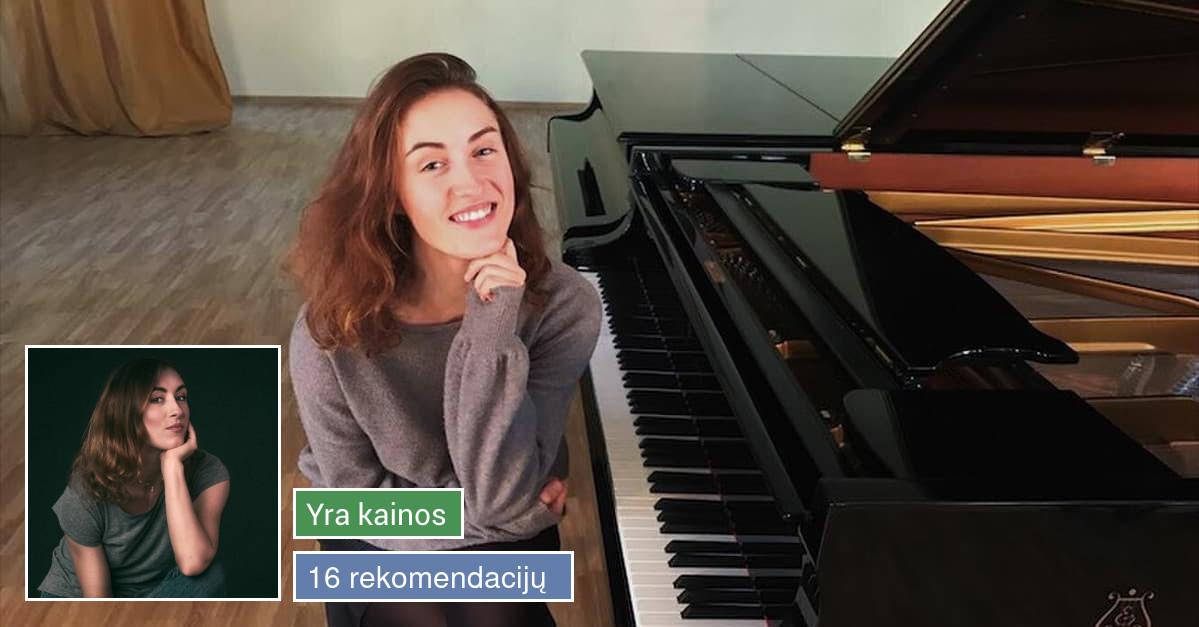Dainavimo, pianino mokytoja Vilniuje